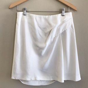 Chloe White Pleated/Draped Skirt Size 4